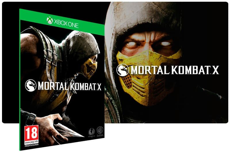 Banner do game Mortal Kombat X em mídia digital para Xbox One