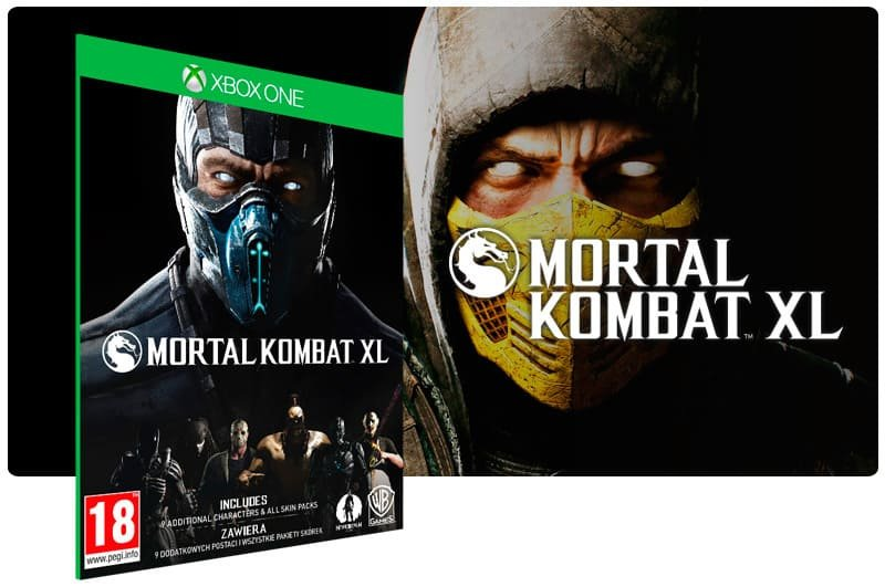 Banner do game Mortal Kombat XL em mídia digital para Xbox One
