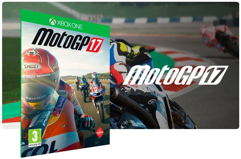 Banner do game Motogp 17 em mídia digital para Xbox One