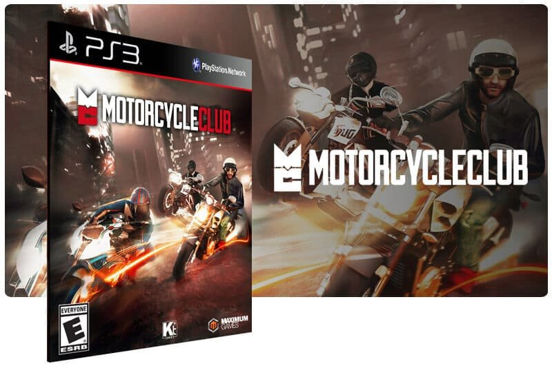 Banner do game Motorcycle Club para PS3