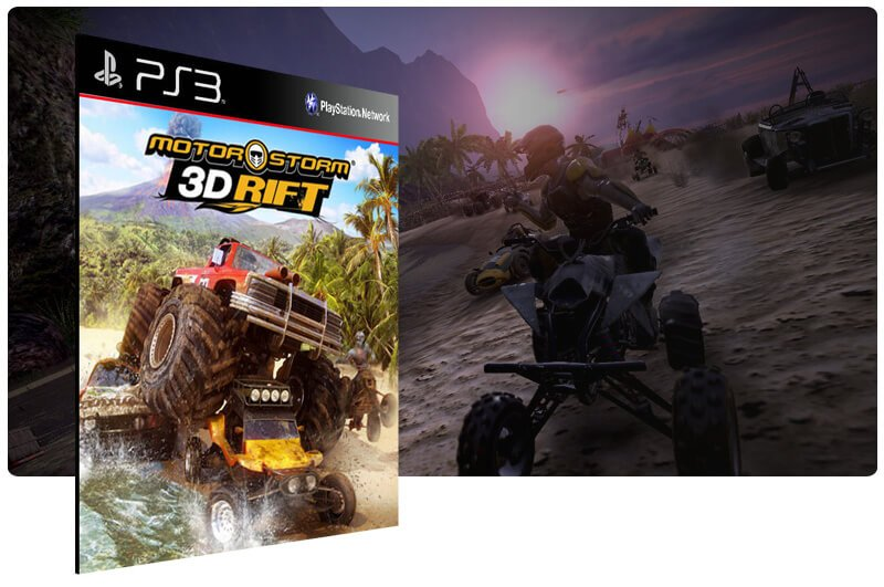 Banner do game Motorstorm 3D Rift para PS3