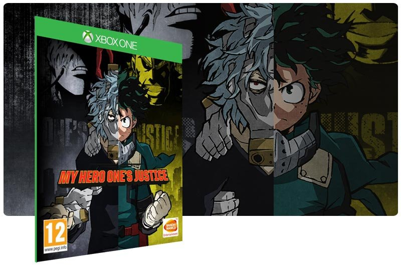 Banner do game My Hero One's Justice em mídia digital para Xbox One