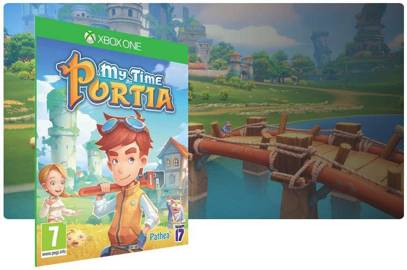 Banner do game My Time at Portia em mídia digital para Xbox One