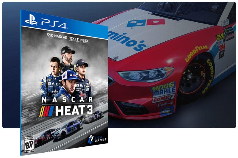 Banner do game NASCAR Heat 3 para PS4