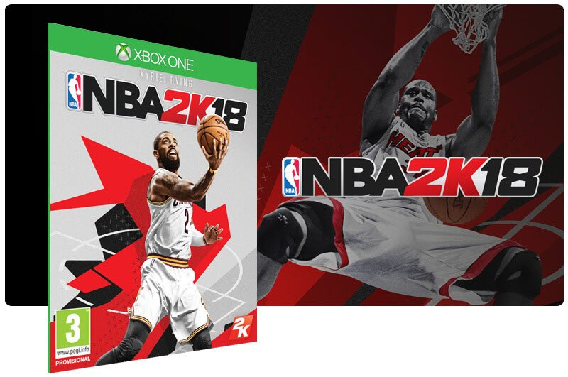 Banner do game NBA 2K18 em mídia digital para Xbox One