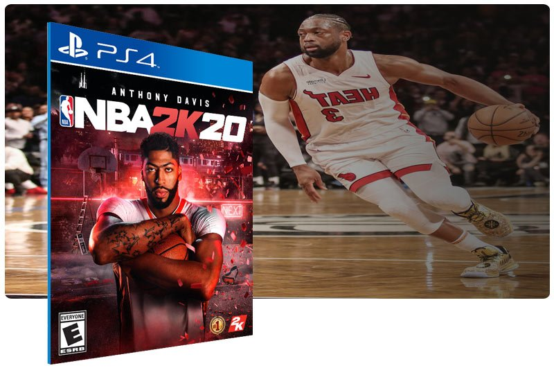 Banner do game NBA 2K20 em mídia digital para PS4