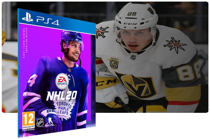 Banner do game NHL 20 Standard Edition em mídia digital para PS4
