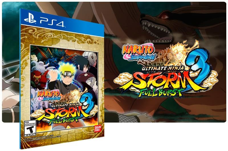 Banner do game Naruto Shippuden Ultimate Ninja STORM 3 Full Burst para PS4