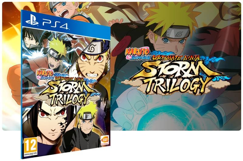 Banner do game Naruto Shippuden Ultimate Ninja STORM Trilogy para PS4