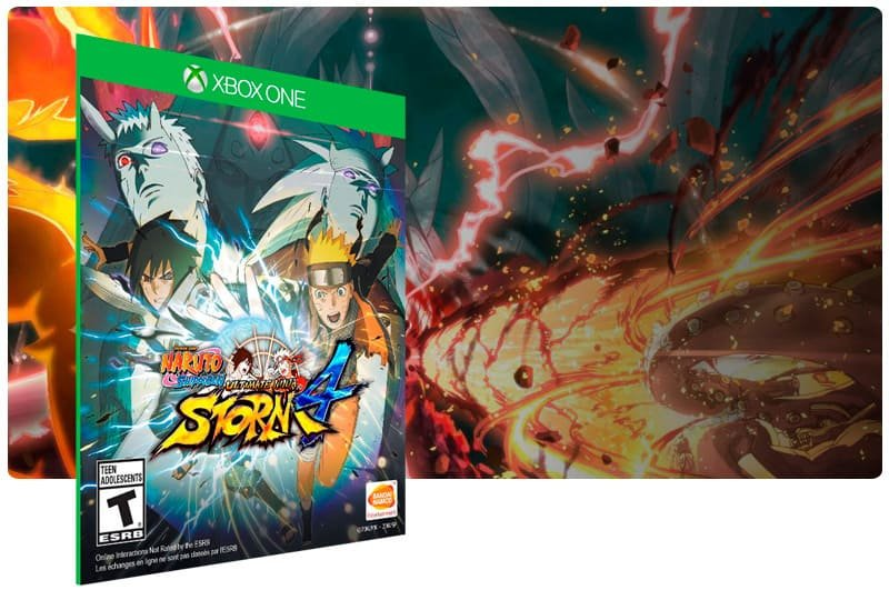 Banner do game Naruto Shippuden: Ultimate Ninja Storm 4 em mídia digital para Xbox One