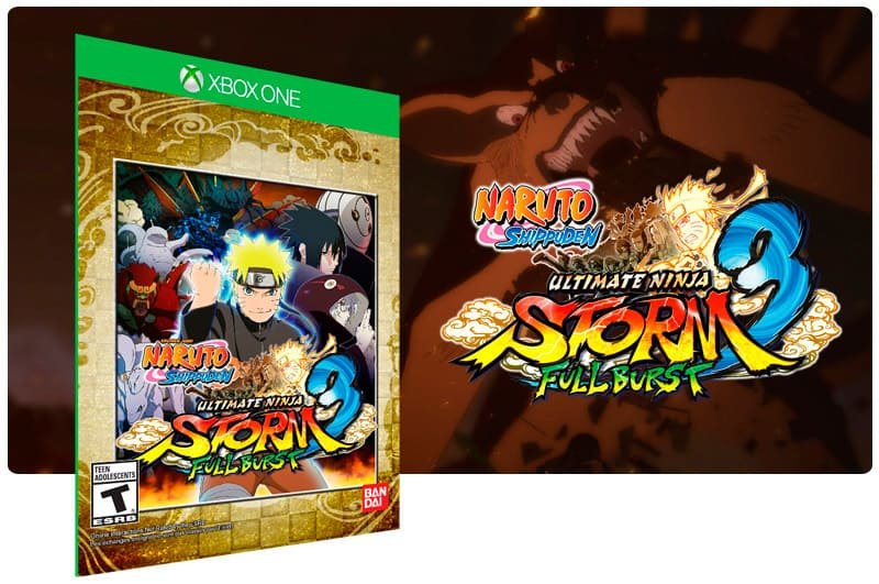 Banner do game Naruto Shippuden: Ultimate Ninja STORM 3 Full Burst em mídia digital para Xbox One