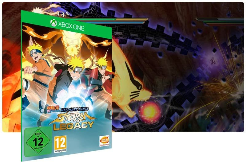 Banner do game Naruto Shippuden: Ultimate Ninja Storm Legacy em mídia digital para Xbox One