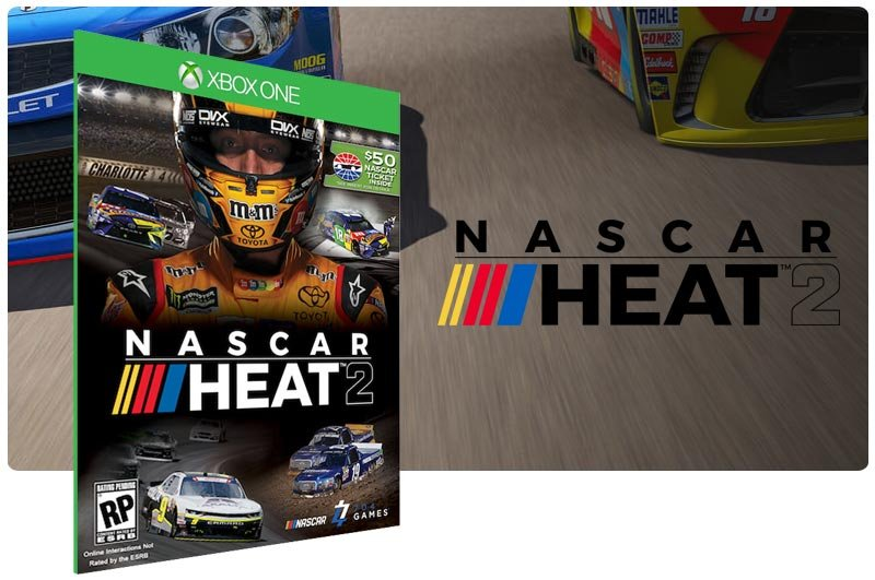 Banner do game Nascar Heat 2 em mídia digital para Xbox One