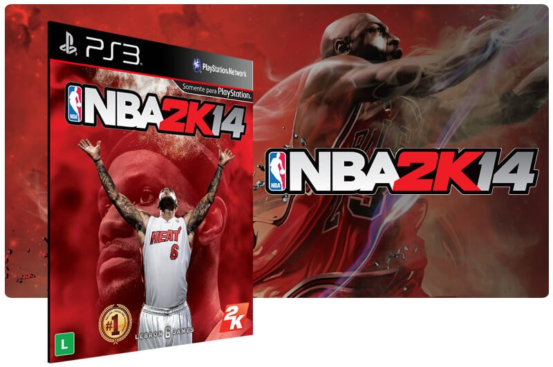 Banner do game NBA 2K14 para PS3