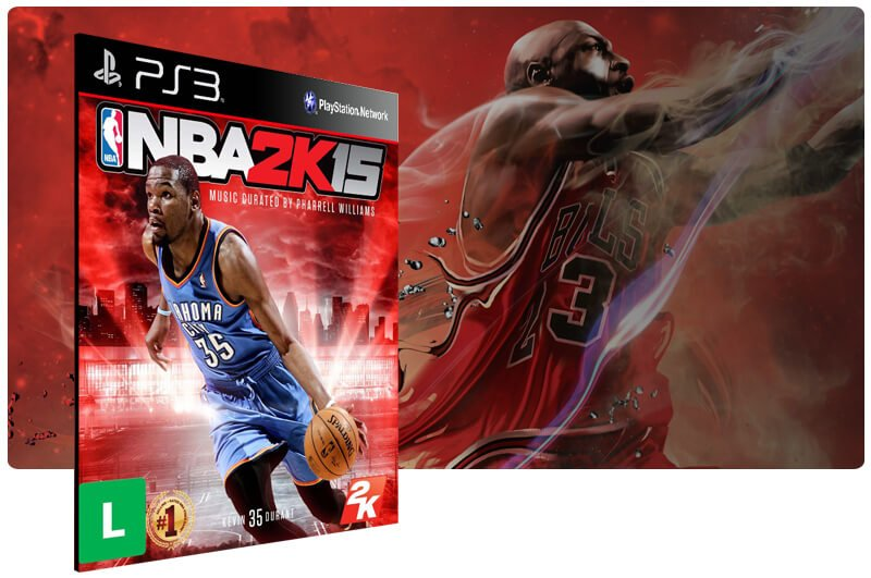 Banner do game NBA 2K15 para PS3