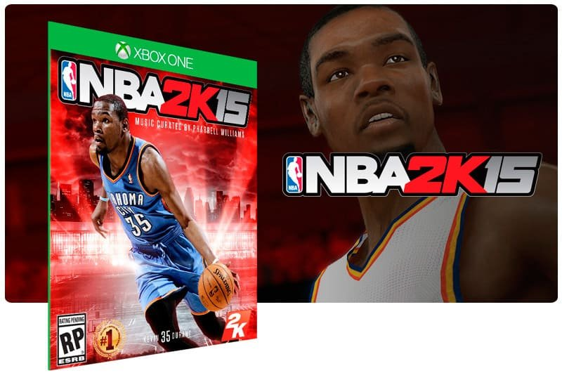 Banner do game NBA 2K15 em mídia digital para Xbox One