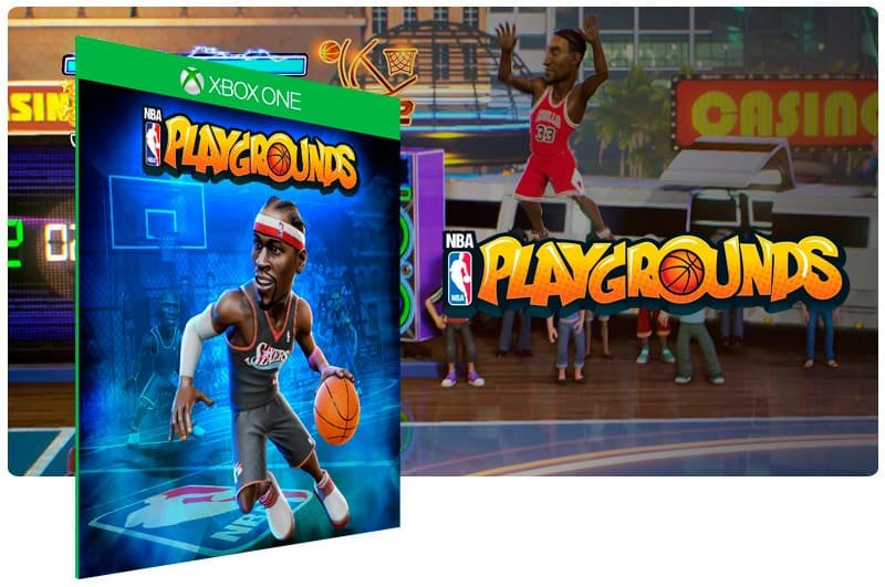 Banner do game NBA Playgrounds em mídia digital para Xbox One