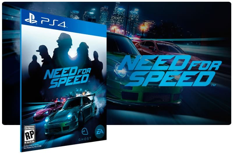 Banner do game Need For Speed para PS4