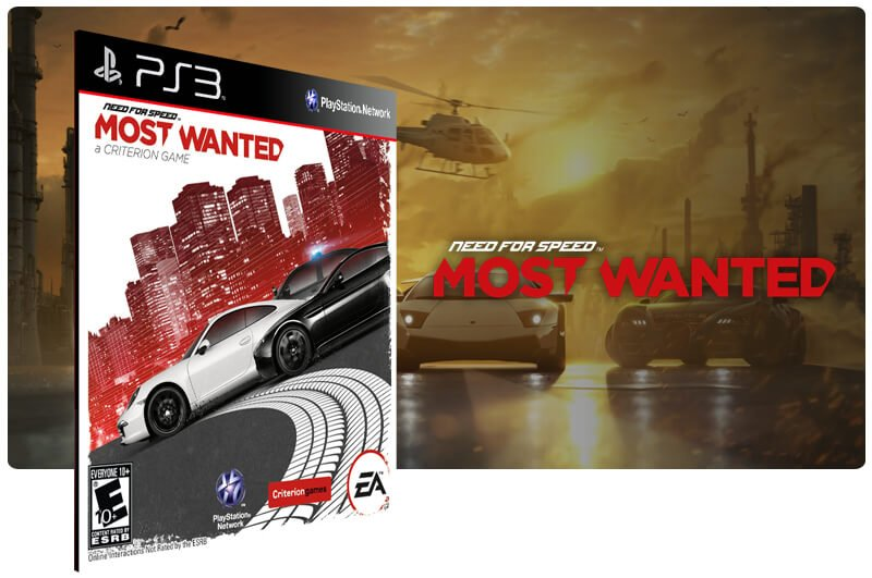 Banner do game Need For Speed Most Wanted para PS3