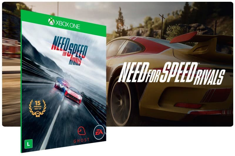Banner do game Need for Speed: Rivals em mídia digital para Xbox One