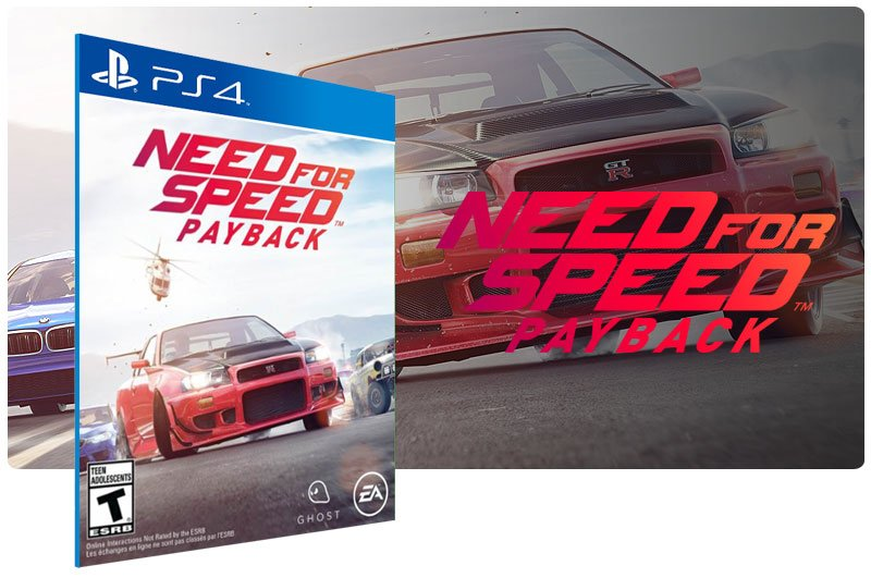 Banner do game Need for Speed Payback Standard Edition para PS4