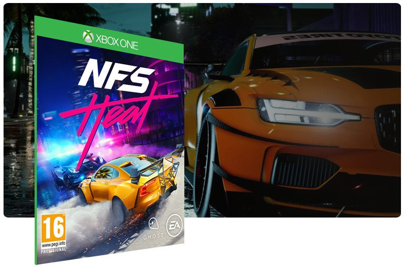 Banner do game Need for Speed™ Heat Standard Edition em mídia digital para Xbox One