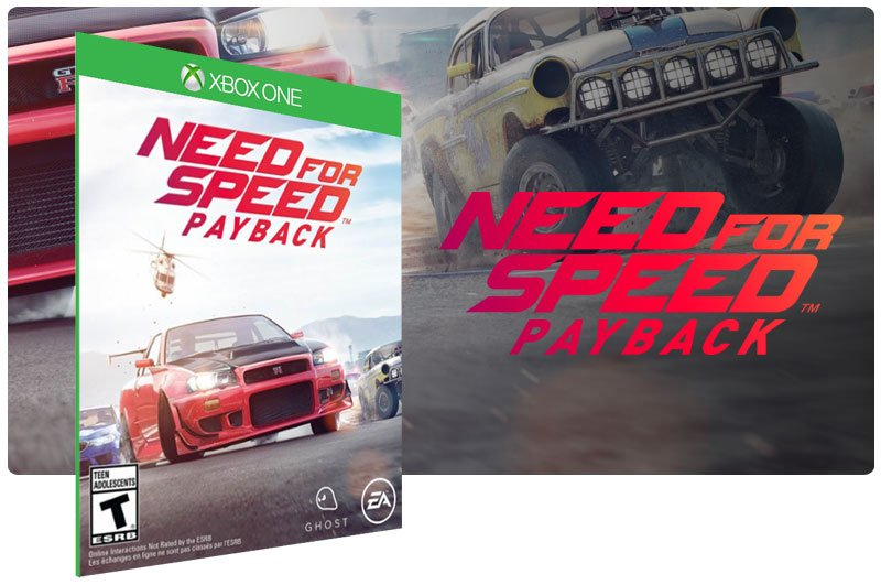 Banner do game Need for Speed: Payback em mídia digital para Xbox One