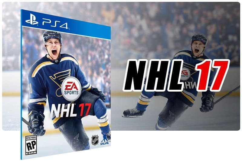 Banner do game NHL 17 para PS4