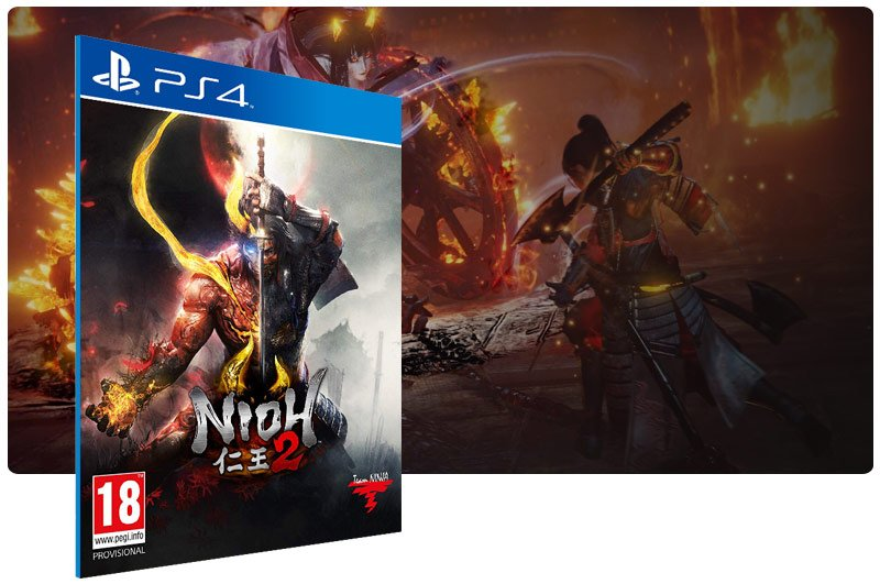 Banner do game Nioh 2 para PS4