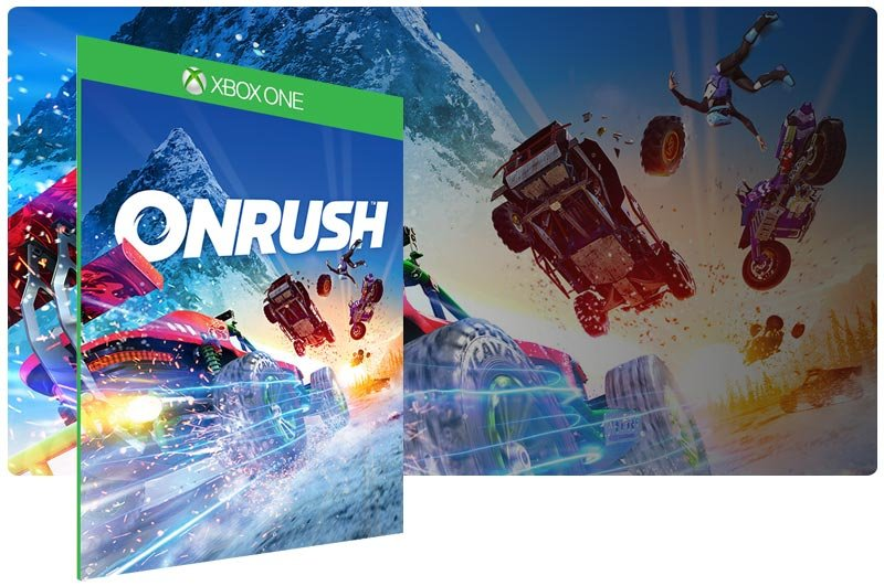 Banner do game ONRUSH em mídia digital para Xbox One