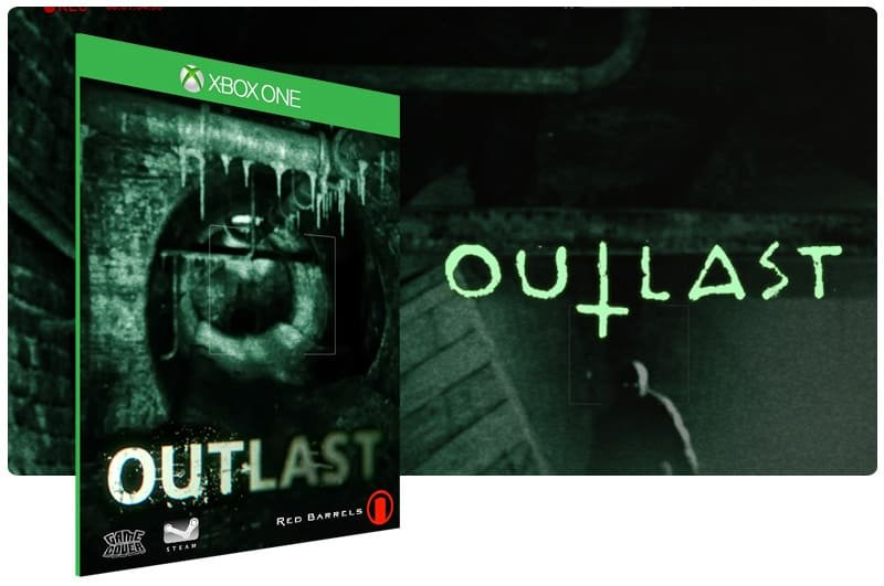 Banner do game Outlast em mídia digital para Xbox One