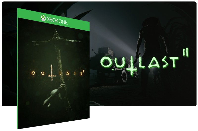 Banner do game Outlast 2 em mídia digital para Xbox One