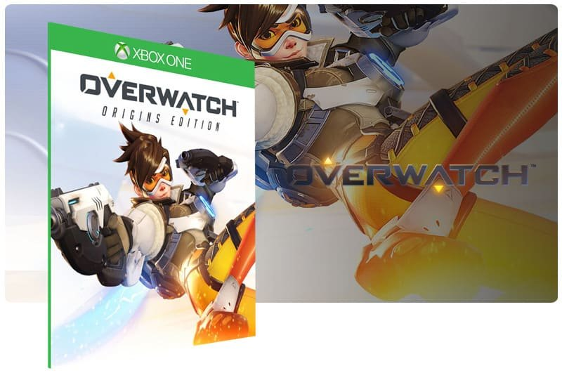 Banner do game Overwatch: Origins Edition em mídia digital para Xbox One