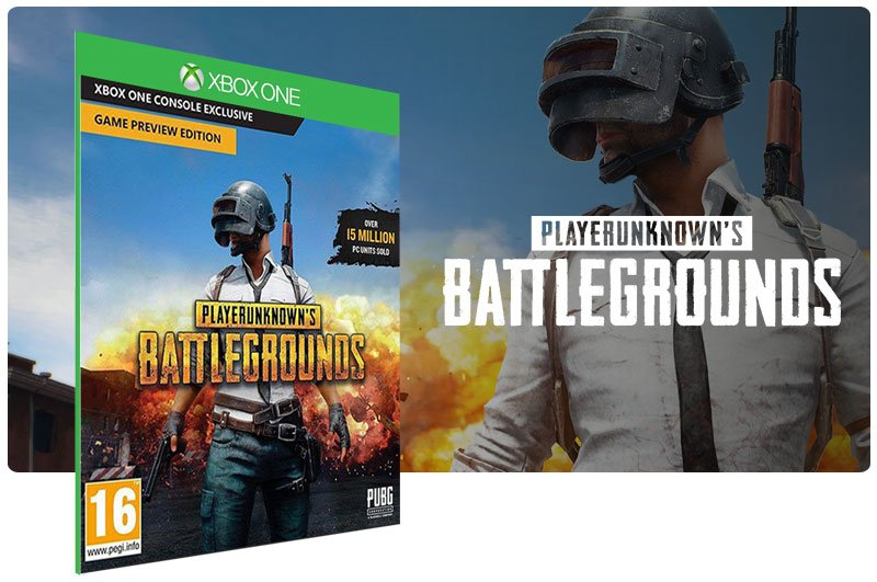 Banner do game PLAYERUNKNOWNS BATTLEGROUNDS em mídia digital para Xbox One