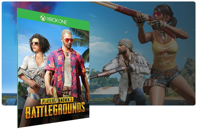 Banner do game PUBG - Sanhok Edition em mídia digital para Xbox One