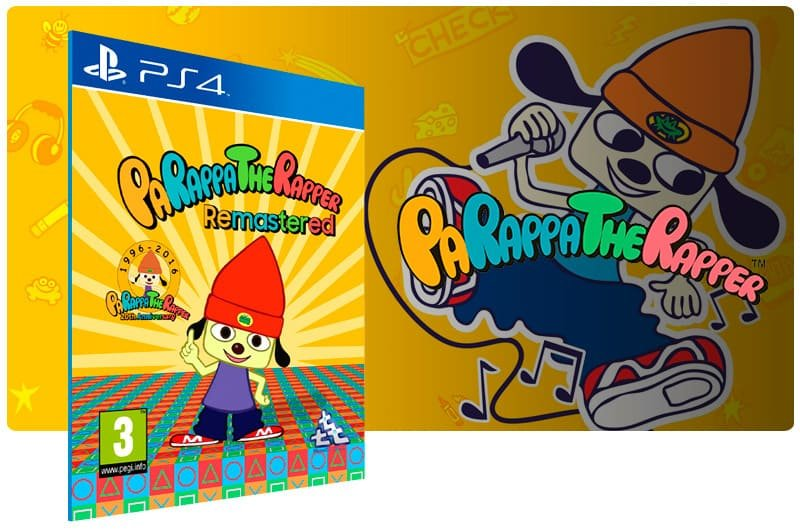 Banner do game Parappa The Rapper Remastered para PS4