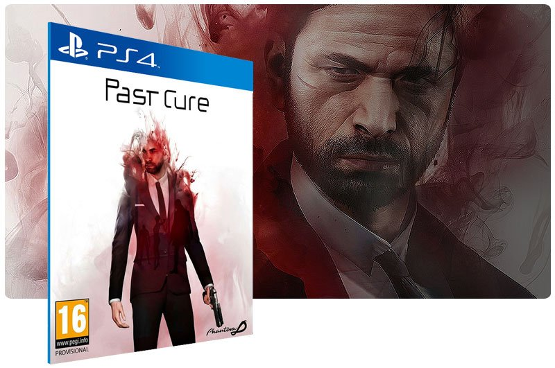 Banner do game Past Cure em mídia digital para PS4