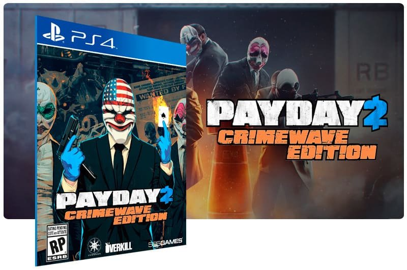 Banner do game Payday 2 Crimewave Edition para PS4