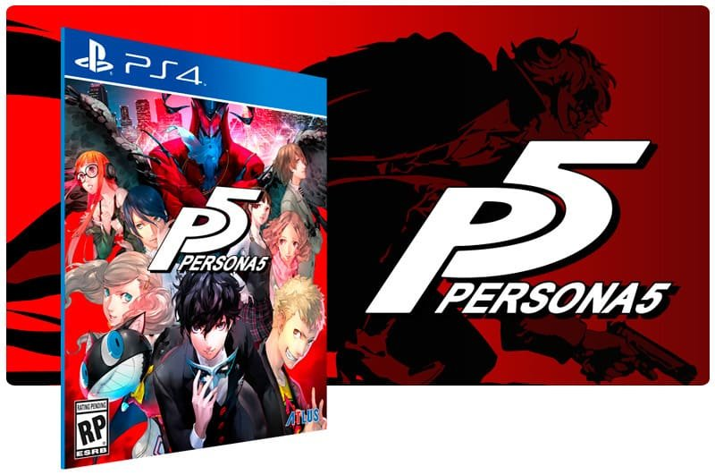 Banner do game Persona 5 para PS4