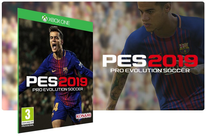Banner do game Pes 19 em mídia digital para Xbox One