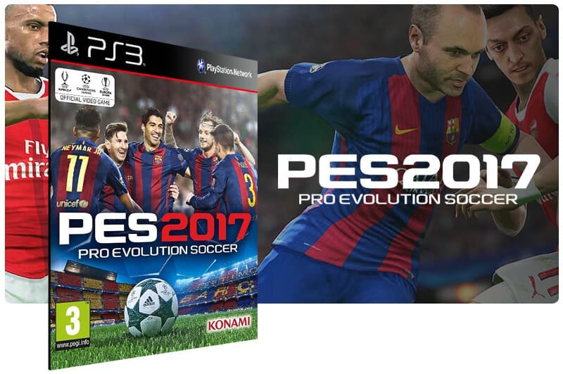 Banner do game PES 17 para PS3