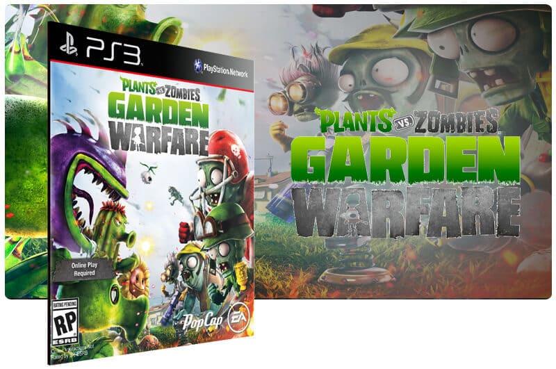 Banner do game Plants vs Zombies Garden Warfare para PS3
