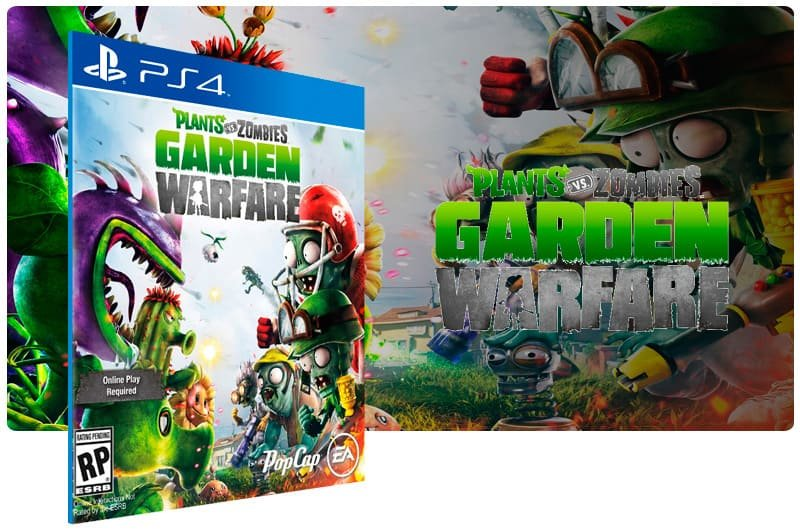 Banner do game Plants Vs Zombies Garden Warfare para PS4