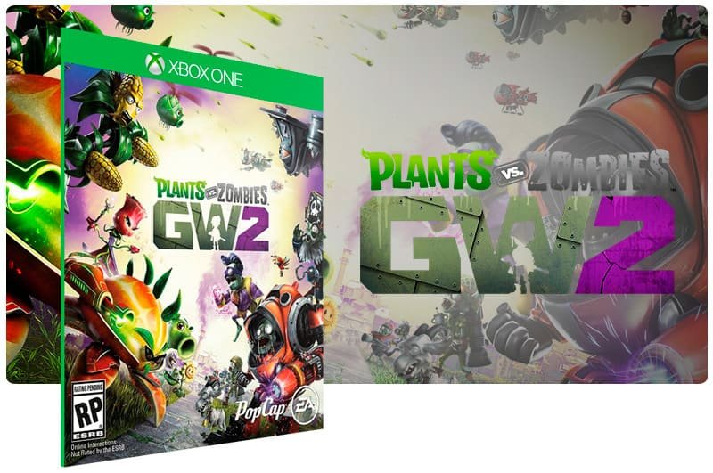 Banner do game Plants Vs. Zombies Garden Warfare 2 em mídia digital para Xbox One
