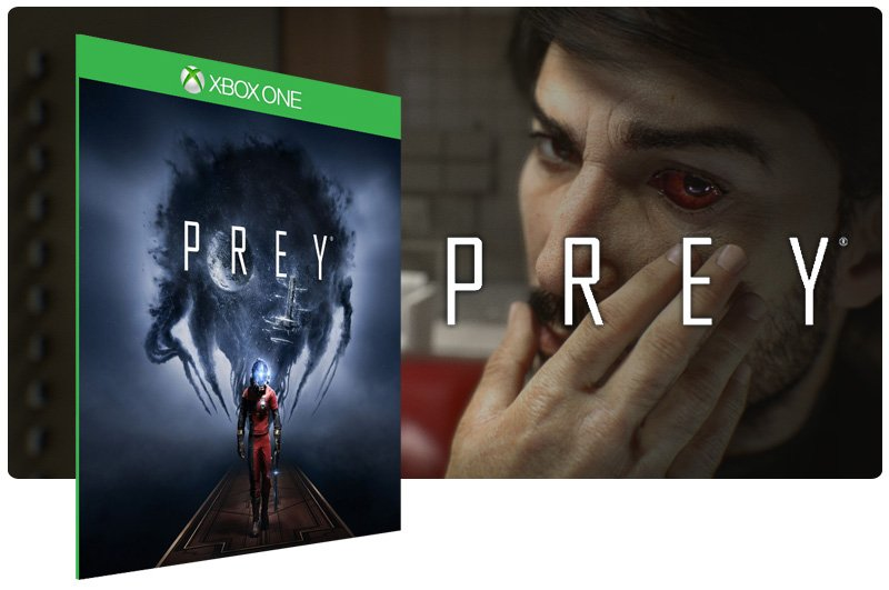 Banner do game Prey em mídia digital para Xbox One