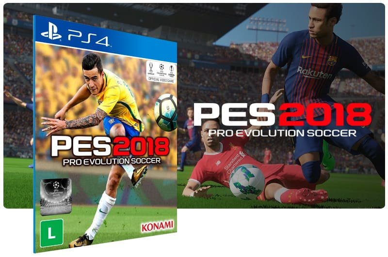 Banner do game Pes 2018 para PS4