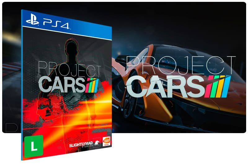 Banner do game Project Cars para PS4