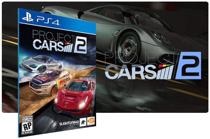 Banner do game Project Cars 2 para PS4