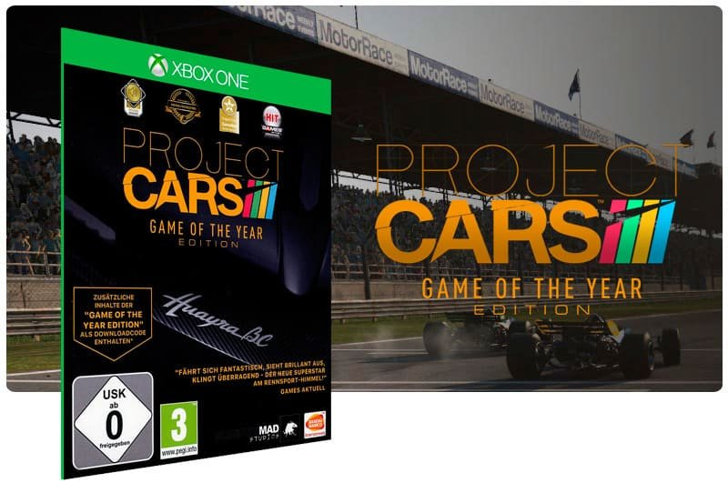Banner do game Project Cars: Game of the year Edition em mídia digital para Xbox One