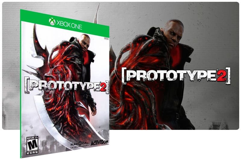 Banner do game Prototype 2 em mídia digital para Xbox One